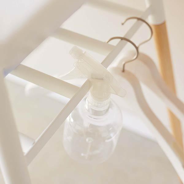 スタンド式棚付きアイロン台 トスカ TOSCA | アイロン台 シンプル 置き型 スチール 山崎実業 アイアン 白 ホワイト 774035