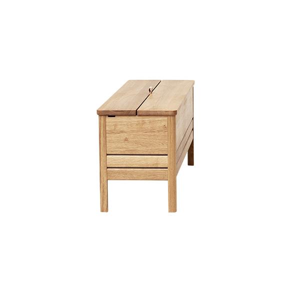 Form&Refine フォーム リファイン エーライン ストレージ ベンチ ホワイト オーク | 棚 椅子 ナチュラル シンプル 北欧 無垢 ブランド 木製 高級 収納