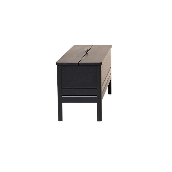 Form&Refine フォーム リファイン エーライン ストレージ ベンチ ブラック オーク | 黒 棚 椅子 ナチュラル シンプル 北欧 無垢 ブランド 木製 高級 収納