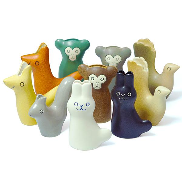 En Liten Van リス 一輪挿し イエロー 鹿児島睦 keramikstudion 花瓶 陶器 北欧 小さい おしゃれ かわいい 置物 オブジェ Squirrel 動物