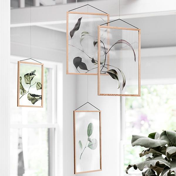 ペーパーコレクティブ Floating Leaves 03 A3 クリア ポスター Paper Collective 08121 透明 透過プリント 葉 北欧 インテリア おしゃれ