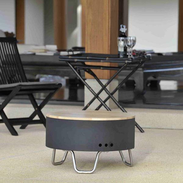 リボルバー ファイアピット 60cm A-Plus REVO17 グリル 焚き火台 円形 バーベキュー コンロ ローテーブル 庭用 屋外 ストーブ BBQ