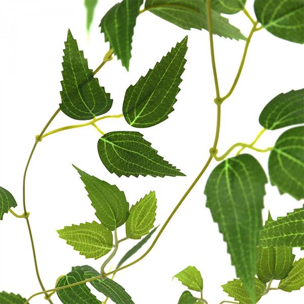 フェイクグリーン 壁掛け 観葉植物 造花 大型 テッセンソウ ハツユキソウ ホワイトフレーム グリーン ロング おしゃれ 植物 PRGR-1308 GREENPARK グリーンパーク