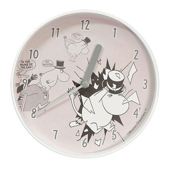 ムーミン グッズ 時計 壁掛け 北欧 北欧雑貨 ムーミンパパ の 大脱出 Wall clock ウォールクロック ムーミン谷の仲間たち プレゼント ギフト 結婚祝い 新築祝い