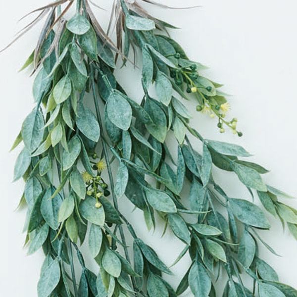 フェイクグリーン イエロー フラワー ハンギング ブッシュ おしゃれ グリーン インテリア 吊り下げ 壁掛け 壁 リビング ディスプレイ 観葉植物 造花 黄色 Brown