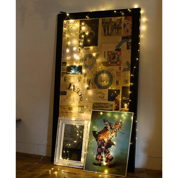 LED ガーランド ライト 3m×6本 180球 スパークラー フック ストリング 電飾 屋内 屋外 コンセント インテリア おしゃれ スワン AOL-619