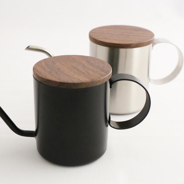 ドリップ ポット コーヒーポット 細口 ワンドリップポット ドリップバッグ コーヒー専用 ステンレス スチール シンプル シルバー コンパクト one drip pote