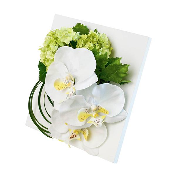造花 コチョウラン 胡蝶蘭 コチョウ ラン フレーム 置掛兼用 GREEN PARK グリーン パーク フェイクグリーン 新築 開業 祝い ギフト 贈り物 ホワイト 白 花