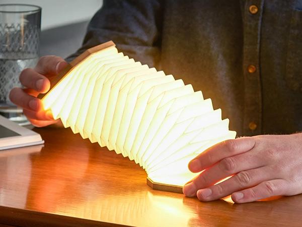 LED ランプ ライト キャンプ アウトドア コンパクト 充電式 屋外 インテリア シンプル 提灯 アコーディオン GINGKO ギンコー accordion lamp バンブー GNK040004