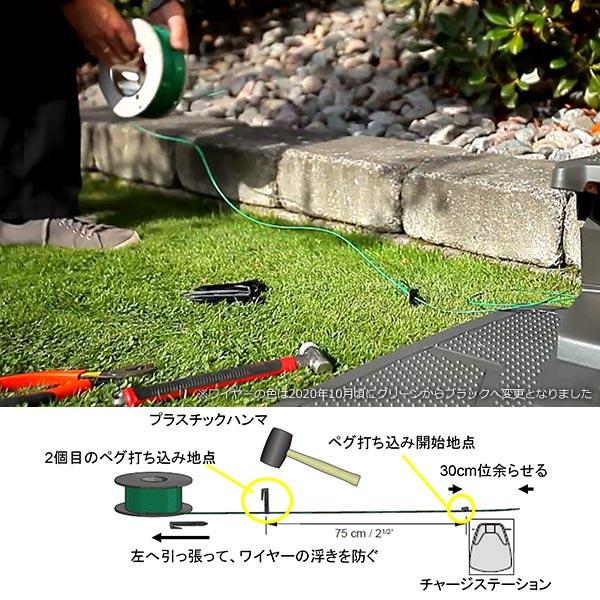 Automower 設置 キット M ロボット 芝刈機 オートモア ハスクバーナ 正規品 ワイヤー ペグ コネクター 自動 草刈り 芝生 手入れ 除草 電動
