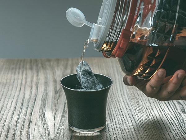 FD STYLE 三作 朝顔 morning glory ブラック 黒 酒器 日本酒 ぐい呑み ステンレス グラス 日本製 ギフト お酒