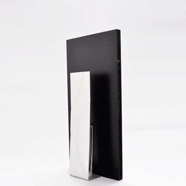 花瓶 おしゃれ フラワーベース 花器 一輪挿し アルミ シンプル モダン 和風 ブラック シルバー 日本製 アート フレーム 長方形 アルアート ALART AF-2S