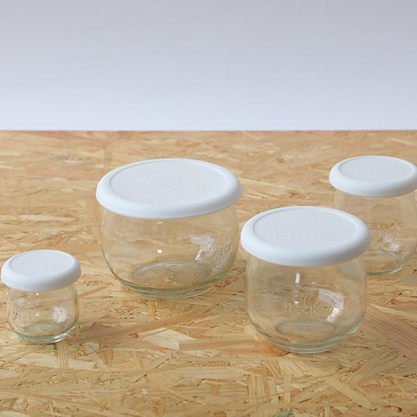 ミニ チューリップ シェイプ 40ml フタXSサイズ WE-788 MINI TULIP SHAPE WECK ウェック | ガラス 小さい ジャム お菓子 容器 おしゃれ ブランド ゼリー プリン