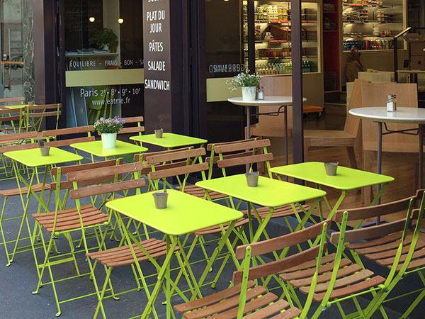 ガーデン ナチュラル チェア フェルモブ ビストロ 2脚 セット 折りたたみ イス 木製 チェア アウトドア おしゃれ Fermob bistro 座面高48cm 庭 シンプル 家具