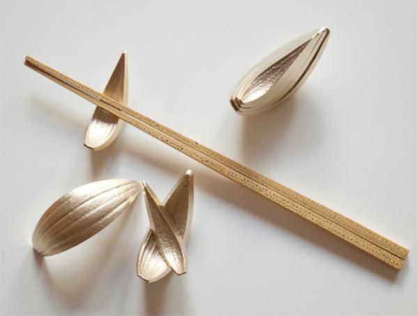 箸置き おしゃれ セット 箸置きなタマネギ graf グラフ ギフト プレゼント かわいい 箱入り おもしろ 4人分 真鍮 野菜 cut piece