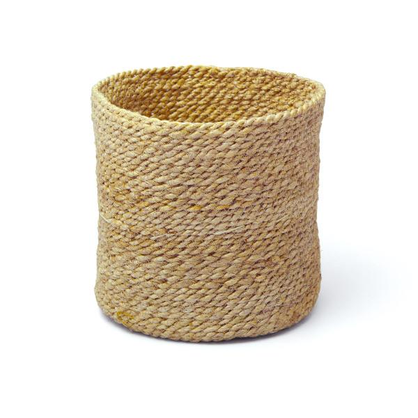 麻 鉢カバー 20cm ジュート ポット 6号 丸形 おしゃれ インテリア かご バスケット プランターカバー ナチュラル 植木鉢 雑貨 小物入れ 黄麻 シンプル 39007