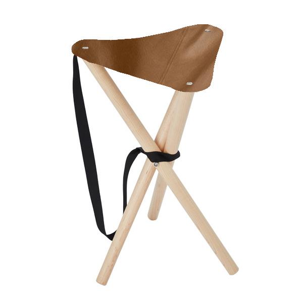 キャンプ 椅子 アウトドア 3脚 折りたたみ ピクニック チェア 遊牧舎工房 革 持ち運び 軽量 1kg 木製 おしゃれ 携帯 イス メープル 散歩 ベランダ 家 屋内 屋外