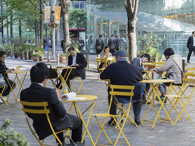 フェルモブ ビストロ ラウンド テーブル 60 全19色 Fermob bistro 折りたたみ ガーデン ファニチャー ガーデンテーブル アウトドア おしゃれ