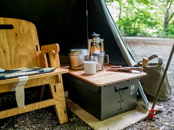 トップボード for ガレージ ボックス YOKA ヨカ 天板のみ テーブル 木製 アウトドア キャンプ ウッド おしゃれ 国産 収納 ローテーブル