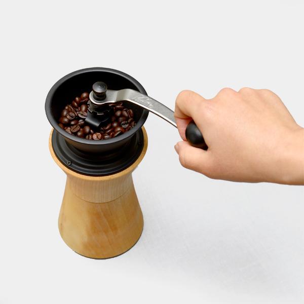 コーヒーミル MokuNeji 手動 手挽き カリタ おしゃれ 日本製 天然木 木製 職人 オイル仕上げ ケヤキ ギフト プレゼント モクネジ MJ-CML