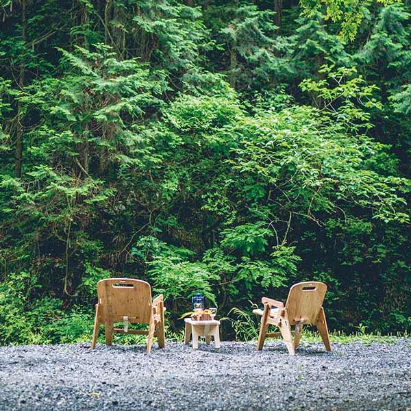 チェア DIY 用 無塗装 YOKA ヨカ 折りたたみ 椅子 アウトドア キャンプ おしゃれ イス インテリア ウッド 木製 国産 収納 座面高 32cm