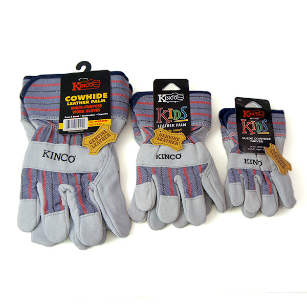 キンコ グローブ キッズ メール便 対応 3〜6歳用 7〜12歳用 Kinco Gloves Kids 1500C 1500Y 子供 ジュニア SS レザー 手袋 おそろい 牛革