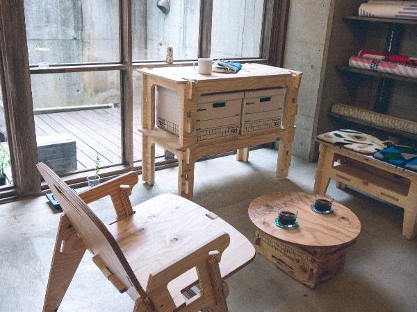 スタッキング シェルフ DIY 用 無塗装 2段セット YOKA ヨカ 折りたたみ 収納 ラック 棚 テーブル ウッド 木製 国産 インテリア おしゃれ