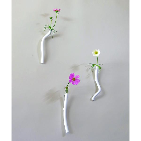 一輪挿し おしゃれ 陶器 花瓶 花器 フラワーベース Neo+ S ネオジム磁石 付き 一輪挿し ネオプラス セラミックジャパン 小松誠 NE-5 日本製 壁掛け シンプル