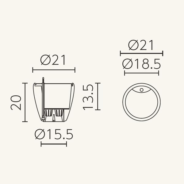 デザイン プランター 5L 自動 吸水 底面灌水 植木鉢 カラー プラスチック ホワイト グレー ブラック ベージュ パープル レッド ラウンド 21 レチューザ プレミアム