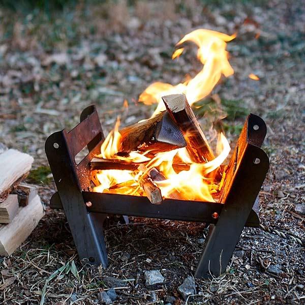 焚き火台 クッキング ファイヤー ピット ソロ COOKING FIRE PIT SOLO YOKA ヨカ グリル 組立 コンパクト ソロ 折りたたみ式