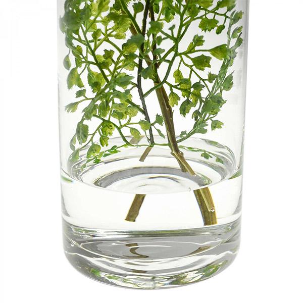 フェイクグリーン アジアンタム ウォーターシリンダー 卓上 造花 観葉植物 テーブルグリーン GREENPARK グリーンパーク PRGR-1139 人気 植物 アレンジメント 葉