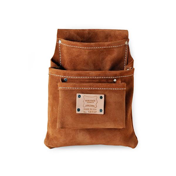 工具 腰袋 ベルト 便利 583SP ヘリテージ レザー Heritage Leather 3ポケット ツール ポーチ ブラウン 茶 アメリカ