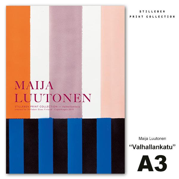 アート ポスター A3 Valhallankatu ヴァルハランカトゥ おしゃれ インテリア 抽象画 北欧 絵画 美術 シンプル デザイン Maija Luutonen スティルレーベン No78