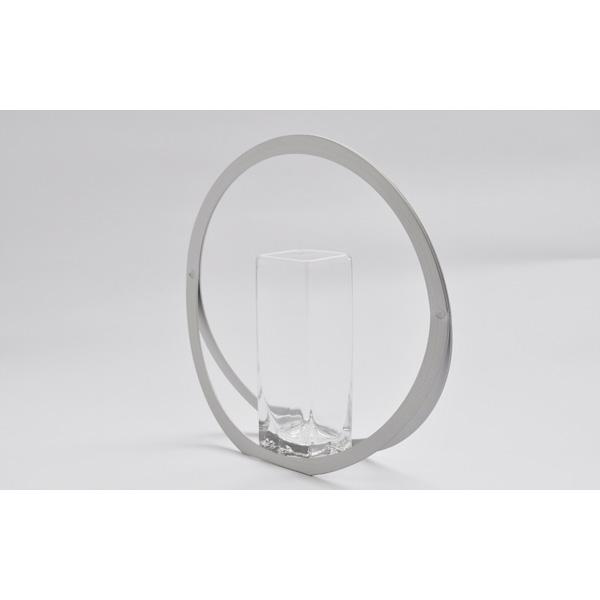 花瓶 おしゃれ 一輪挿し フラワーベース 花器 うたかた Sサイズ ガラス花器付 UTAKATA アルアート ALART UT-1 インテリア 日本製 円形 アルミ 丸 かわいい