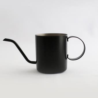 ドリップ ポット コーヒーポット 細口 ワンドリップポット ドリップバッグ コーヒー専用 one drip poteKURO ドリップバッグコーヒー 専用 ポット 黒 ブラック