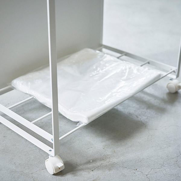 3分別 目隠し 分別 ダスト ワゴン トスカ tosca キッチン 台所 ゴミ箱 シンプル ナチュラル スチール 天板 山崎実業 白 ホワイト キャスター 可愛い