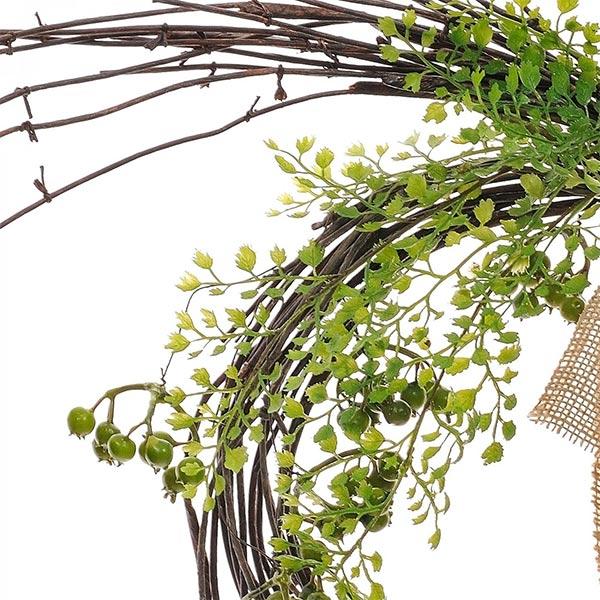造花 スワッグ フェイクグリーン アジアンタム ベリー 玄関飾り アレンジメント 観葉植物 ナチュラル 壁掛け 人気 枝 リース インテリア PRGR-1187 GREENPARK