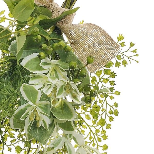 造花 スワッグ フェイクグリーン グリーンミックス スワッグS 玄関飾り アレンジメント 観葉植物 ナチュラル 壁掛け 人気 インテリア PRGR-1188 GREENPARK