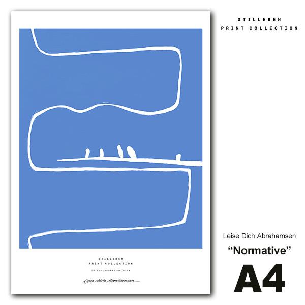 STILLEBEN ポスター A4 Normative ノーマティブ 規範 メール便対応 スティルレーベン Leise Dich Abrahamse A4LDA_nor 北欧 インテリア