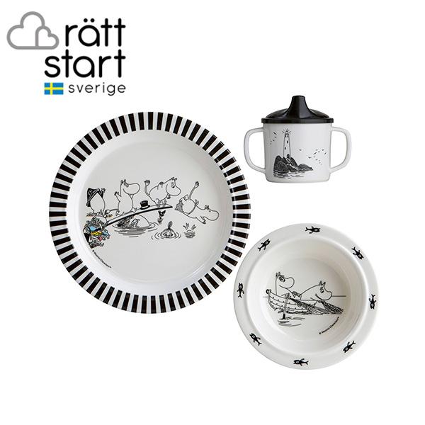 ムーミン MOOMIN メラミン 食器セット ムーミンファミリー ratt start | ふたつきダブルハンドルカップ ボウル プレート ラットスタート ギフト 出産祝い 北欧