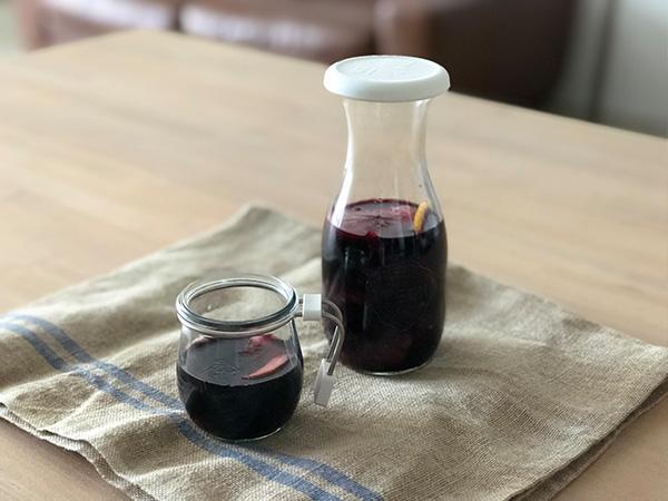 ジュース ジャー 500 ml WE 764 フタSサイズ JUICE JAR WECK ウェック キャニスター 保存 容器 耐熱 ガラス 密閉 保存瓶