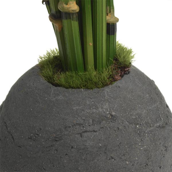 盆栽 トクサ 檜 炭 ボール 黒皿 CUPBON フェイクグリーン 造花 ミニ サイズ PRGR-1102 消臭 調湿 効果 ヒノキ 脱臭 和 モダン 炭ボール 和室 丸い 檜炭