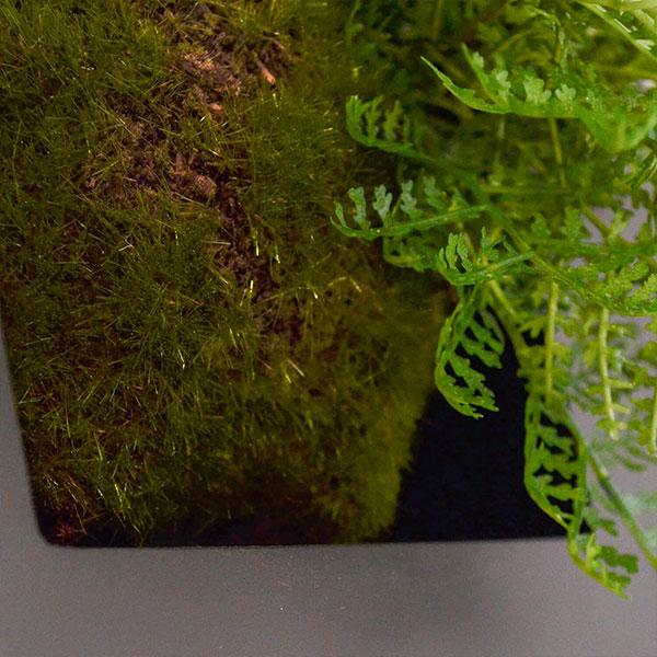 盆栽 シノブ フェイクグリーン 壁掛け 人工 観葉植物 造花 スタンド付 ウォールデコ CUPBON PRGR-0908 和室 シダ植物 モダン 北欧 インテリア 癒し 室内 装飾