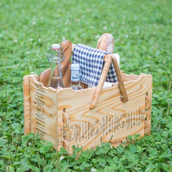 YOKA ヨカ パネル バスケット 塗装済み 職人仕上げ 日本製 キャンプ アウトドア レジャー コンパクト 組み立て 折りたたみ 木製