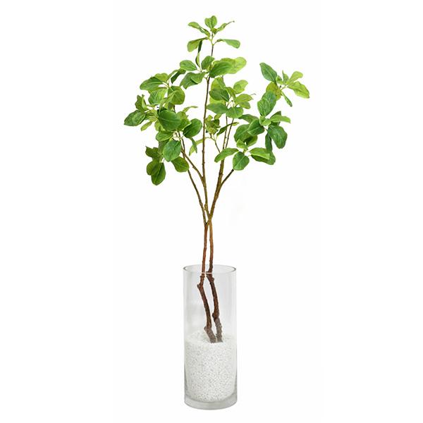 フェイクグリーン マグノリアリーフ ガラスシリンダー H35 観葉植物 おしゃれ 造花 枝物 インテリア PRGR-0755 GREENPARK グリーンパーク 春 新生活