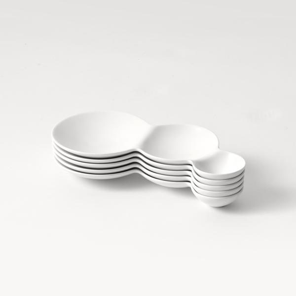 サヴォネ 3連 仕切り皿 マットホワイト マットブラック 全2色 savone METAPHYS メタフィス 64021 おしゃれ お皿 ギフト プレゼント 皿