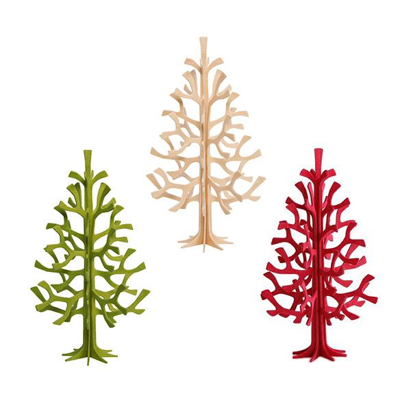 ロヴィ ミニ クリスマス ツリー 14cm メール便 対応 ナチュラル グリーン レッド Lovi 北欧 木製 立体 おしゃれ シンプル オブジェ かわいい