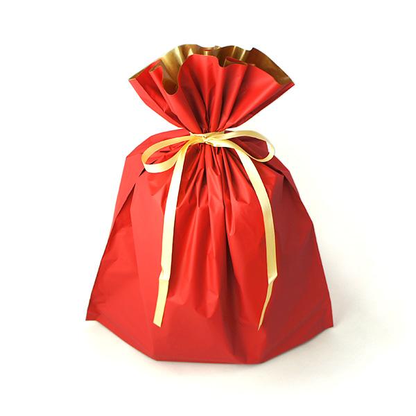 ラッピング ギフトバッグ 袋 レッド or ブルー