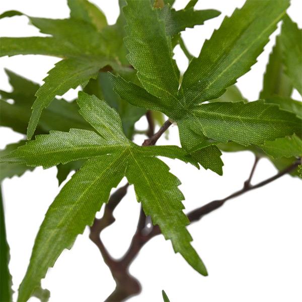 盆栽 モミジ トクサ 苔玉 セット 青紅葉 フェイクグリーン 人工 観葉植物 造花 CUPBON 寄せ植え 黒岩皿 PRGR-1076 和室 モダン ディスプレイ アレンジメント