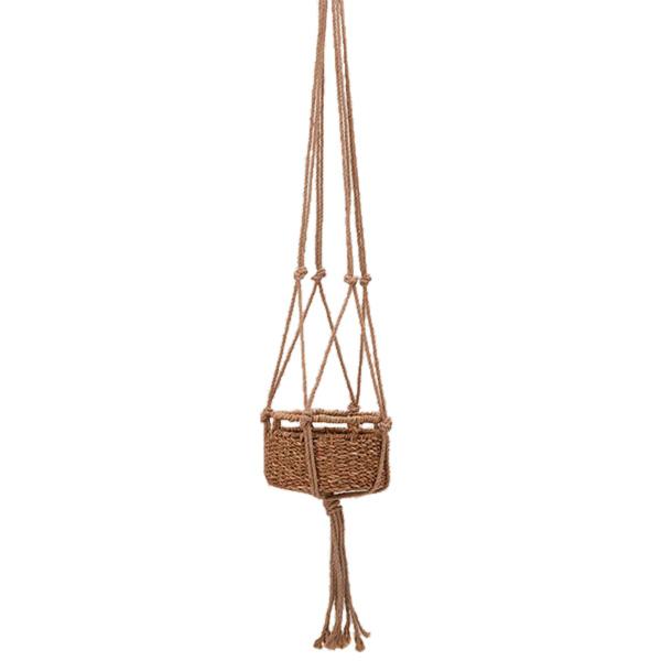 吊り下げ かご ハンギング バスケット ジュート マクラメ LB22 プランター おしゃれ 鉢 ポット 籠 カゴ 植物 ナチュラル インテリア シンプル ラック 収納 39011